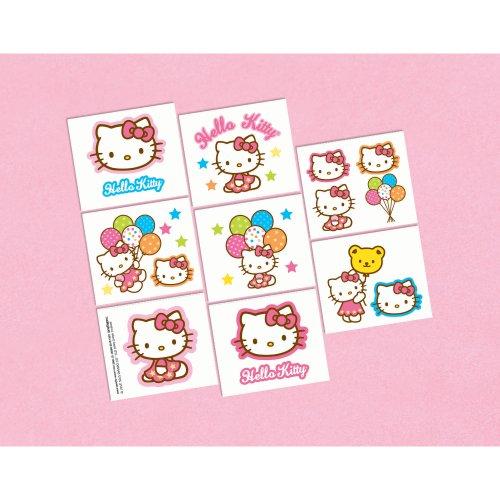 Amscan BB100974 Hello Kitty Tattoos - 1
