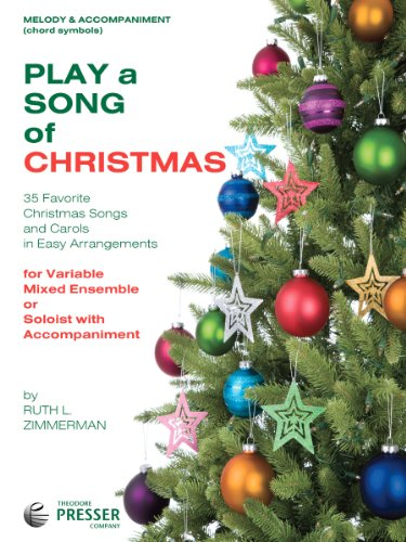 Play A Song Of Christmas - 35 Favorite Christmas Songs and Carols In Easy Arrangements (Melody Instrument, Guitar, Harp Book)