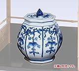 茶器/茶道具・水指 染付 葡萄棚 景徳鎮