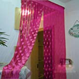 Handloomwala Set Of 2 Pink Beautiful Summer Heart Net Curtains
