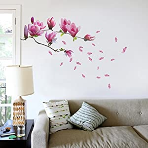 Walplus Giant Magnolia Flowers Tree Decals Wall Sticker from Walplus