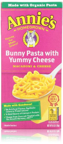 Annie'S Homegrown Mac & Cheese, Bunny Shape Pasta & Yummy Cheese, 6 Oz