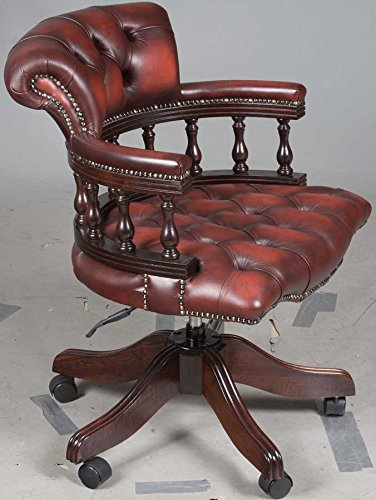 Antique Style Leather Office Chair 2