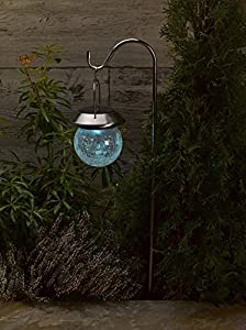 Amazon Com Smart Solar Hanging Crackle Globe On Hook 2pk