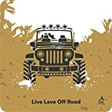 "Chipka Ke Bol Off Roader Design Fridge Magnet [PVC Based,2.75"" x 2.75"",Brown Colour,1 piece]"