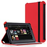 Picture Of CaseCrown Ace Flip Case (Blazing Red) for Amazon Kindle Fire Review