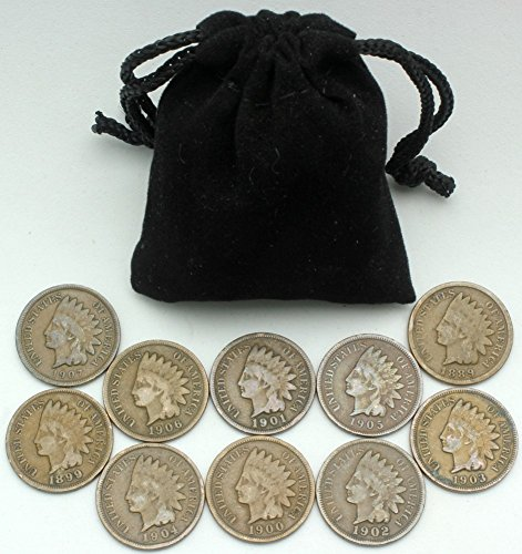 Instant Indian Head Cent Collection - 10 Different More Than 100 Year Old Dates (Indian Head Coin compare prices)
