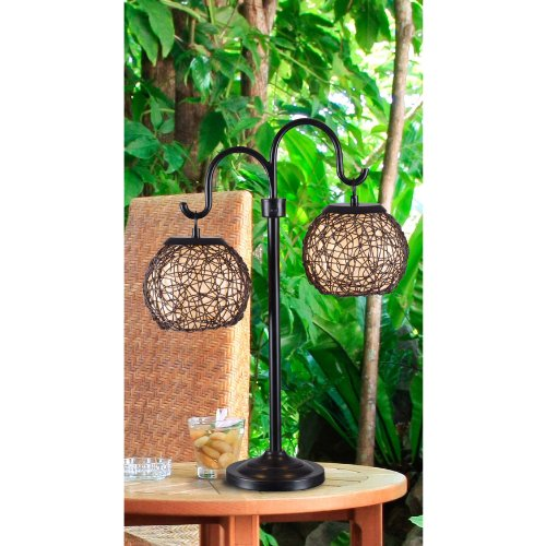 Kenroy Home 32245BRZ Castillo Outdoor Table Lamp, Bronze Finish