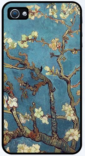 Almond Branches in Bloom by Vincent Van Gogh - RUBBER iPhone 4 or 4s Cover, Cell Phone Case