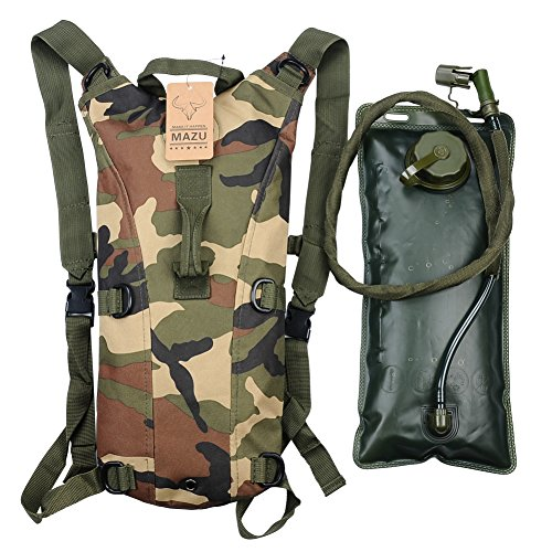 Hydration Pack with 2.5L Backpack Water Bladder for Hiking Running Biking Color Jungle Camo