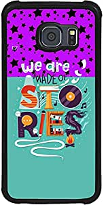 PrintVisa 2D-SGS6-D8011 Quotes Life Colorful Case Cover for Samsung Galaxy S6 (SM-G920i)