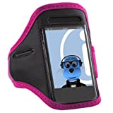 ITALKonline PINK BLACK Sports GYM Jogging ArmBand Arm Band Case Cover for Samsung S5830 Galaxy Ace