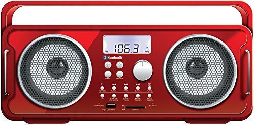 Rechargeable Bt4000 Bluetooth Boom Box Red *** Product Description: Rechargeable Bt4000 Bluetooth Boom Box (Red)Great Bass With No Distortion: The Rechargeable Bt4000 Bluetooth(R) Boom Box (Red) Lets You Feel The Beat Again! With Wireless Streami ***