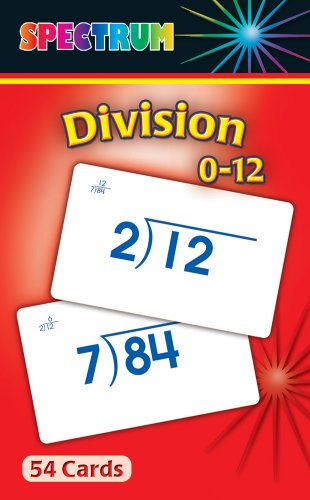 Division 0-12 Flash Cards - 1
