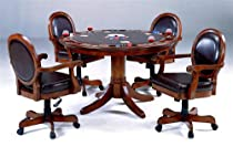 Hot Sale Warrington Poker Dining Table Set in Rich Cherry Finish
