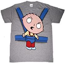 Family Guy Stewie Hangover Baby Carrier Mens T-shirt