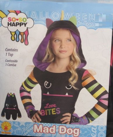 Rubies So-So Happy Mad Dog Costume Top, Child Small/Medium