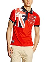 Geographical Norway Polo Kiltss (Rojo / Blanco / Azul Marino)