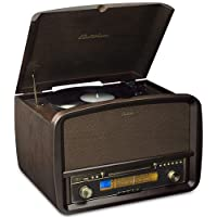 Electrohome Signature Vinyl Record Player Classic Turntable Natural Wood Hi-Fi Stereo System
