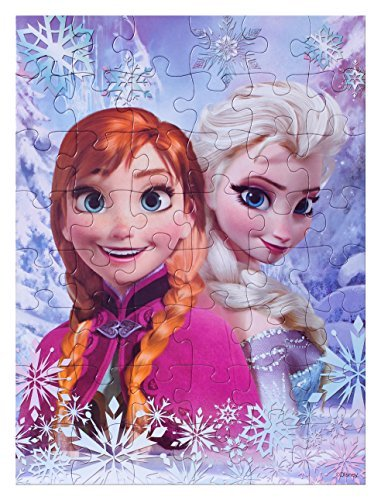 Disney Frozen puzzle 48 Piece Floor Puzzle Measures 15 By 11.2 Inches Featuring Disney Frozen Princess Elsa And Anna + Bonus Olaf Puzzle