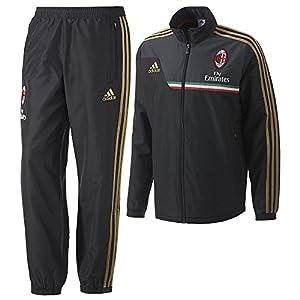 2013-14 AC Milan Adidas Presentation Tracksuit (Black)