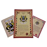 Lee Coat of Arms, Family Crest and Name History - Three Print Combo - England Origin