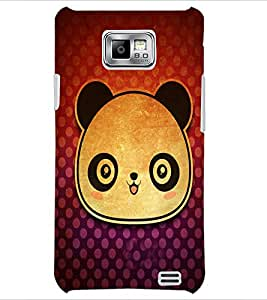 PrintDhaba Panda Face D-3417 Back Case Cover for SAMSUNG GALAXY S2 (Multi-Coloured)