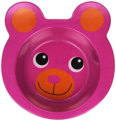 J.I.P. Funny Animal Bear Breakfast Bowl, Pink - 1