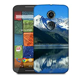 Snoogg White Hill Top Designer Protective Phone Back Case Cover For Moto X 2nd Generation