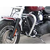 Protection Guard one piece from tube 38 mm, conical form, black for Harley Davidson Dyna Fat Bob (FX