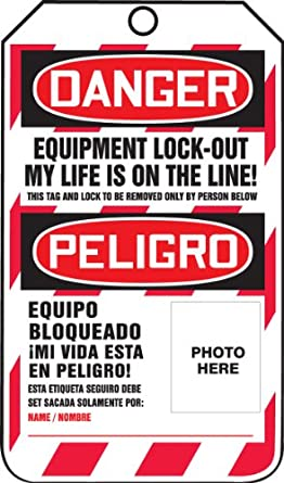 Accuform Signs TSP107CTP Spanish Bilingual Lockout Tag