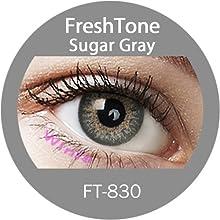 Lente de contacto de color sugar Gray 3tons 12meses sin Correction