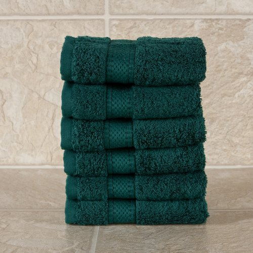 6 Pack Wash cloth set Hunter - Heavy weight 625 gram 100% cotton terry 12x12 - Multi functional & great utility - use as dishtowels, mops, bar towels, in the kitchen, bathroom or just about anywhere - Buy 4 & get free delivery & save 46%