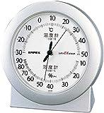 エンペックス気象計 温度湿度計 スーパーEX 高品質温湿度計 置き用 日本製 シャインシルバー EX-2767