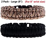The Friendly Swede Paracord Survival Bracelets Bundle - Lifetime Warranty