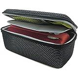 co2CREA(TM) Black EVA Semi-hard Storage Travel Case Carry Bag Protective Skin for Logitech Ultimate Ears UE BOOM 1 and 2 (I/II Gen) Wireless Bluetooth Speaker (Storage Case)