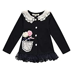 Richie House Girls's Cardigan with Flower Details RH1431-C-2/3
