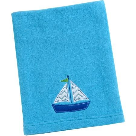 Baby Boy Boat Fleece Blanket Blue