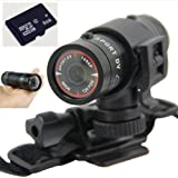 8gb Full Hd 1080p Mini Waterproof Sports DVR Cam Outdoor Action Camera Dv 60fps (O0504) (Black)