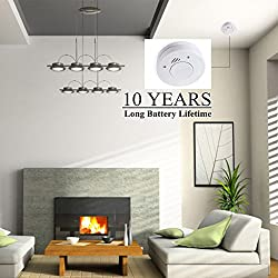 Brojen 10-Year Battery Operated Fire Alarm Smoke Detector with Photoelectric Sensor and Smart Hush Function EN 14604:2005/AC:2008 Requirements Certified by Brojen security