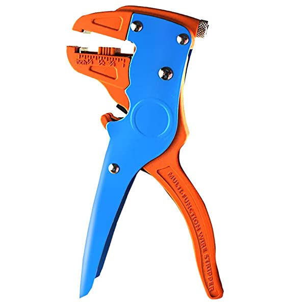 Dechengbao Adjustable Automatic Cable Wire Stripper with Cutter Clippers,Wire Stripping Tool Wire Stripping, 0.5-0.8mm 2,10 to 24 AWG Cutting Range. f
