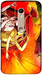 Timpax Protective Hard Back Case Cover With Easy access to all ports Printed Design : Radha and Krishna.Exclusively Design For : Motorola Moto X-3 ( 3rd Gen )