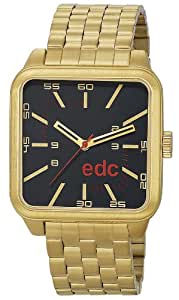 Edc Herren-Armbanduhr edgy  macho - funky gold Analog Quarz Edelstahl EE100801003