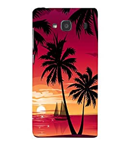 printtech Beach Palm Trees Boat Back Case Cover for Xiaomi Redmi 2S::Xiaomi Redmi 2::Xiaomi Redmi 2 Prime