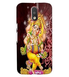ColourCraft Lord Ganesha Design Back Case Cover for MOTOROLA MOTO G4