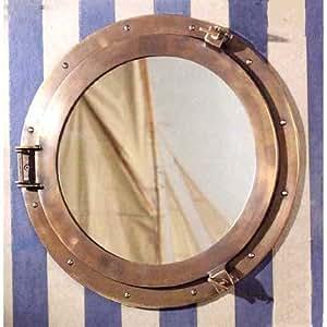 Lounge Porthole Mirror Decorative Accent, Large