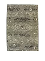 Tapis a Porter Alfombra Vetus Negro/Beige 110 x 170 cm