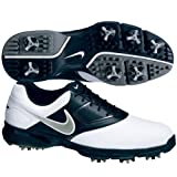 2013 Nike Heritage III Mens Golf Shoes ** New Out** (8.5 UK, White/Metallic/Silver/Black)