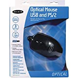 Belkin 2 Button Optical Mouse with Scroll Wheel, USB and PS/2, Black