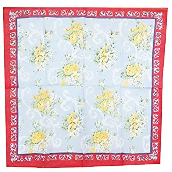 "USM Mix Lot Flroal Retro Style Cotton Handkerchiefs for Women- 16""square"